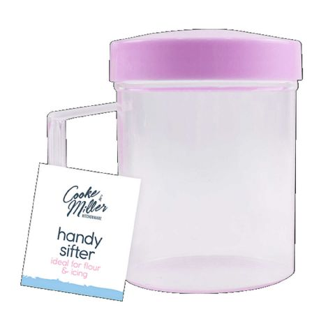 Pink Flour Icing & Chocolate Sifter Shaker
